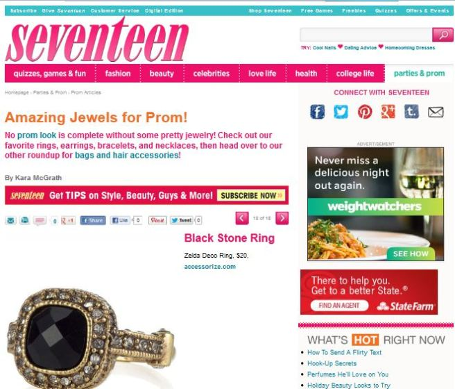 Seventeen.com Placement December 2012