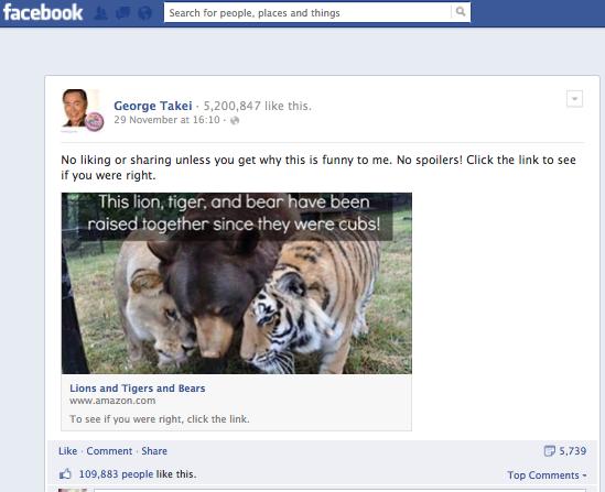 George Takei FB 9