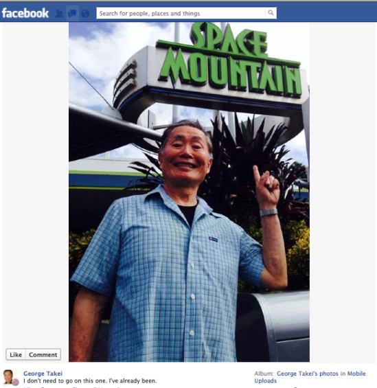 George Takei FB 3