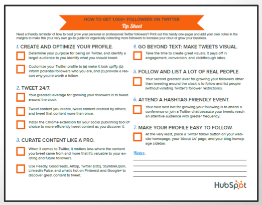 hubspot one pager